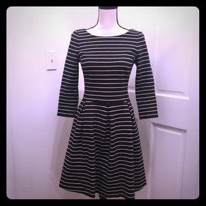 Striped fit and flare Banana Republic dress